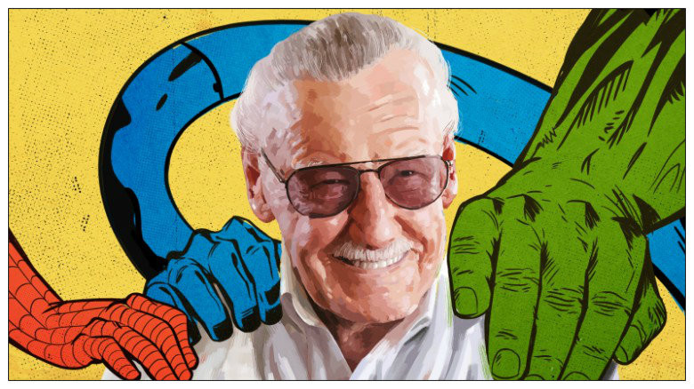 Comic book genius Stan Lee.  Dec 28, 1922 - Nov 12, 2018