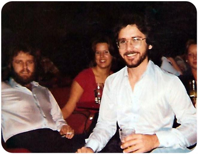 Smiling near the end, King of the Road, Valdosta, 1978.  L-R: Joe Millen, Paula, Wayne Scarborough, Angie Carter Carden.