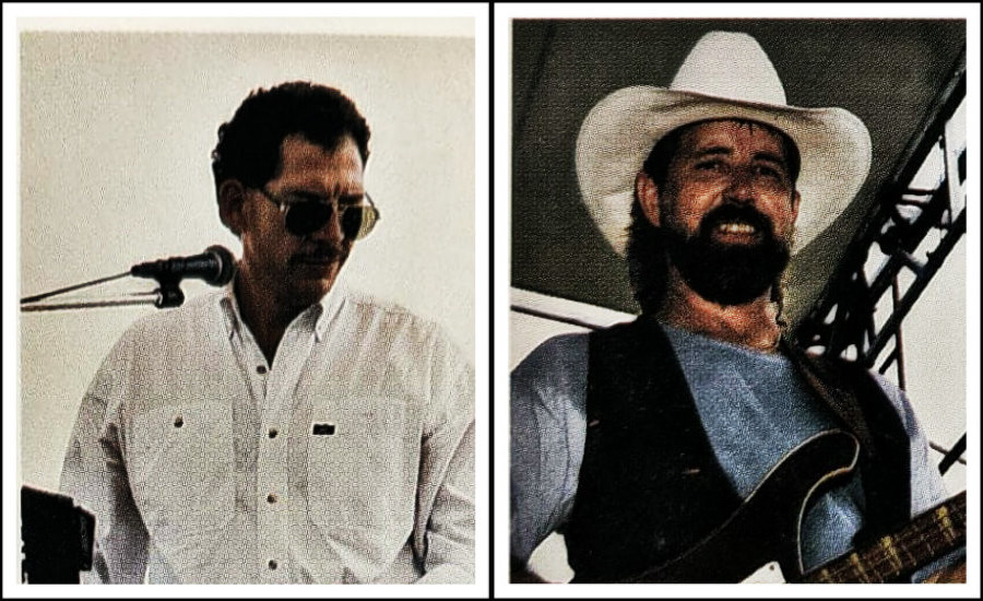 L: George Farr, Alibi keyboard player.  R: Bob Tanner, Alibi bass player.