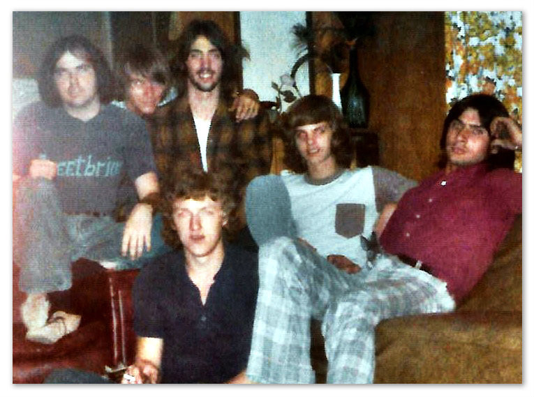 Sweetbriar, 1974.  L-R: Billy Ray Herrin, Danny Altman, Uncle Dave, Ricky Alderman, Harry Tankersley, and up front Joe Shear.