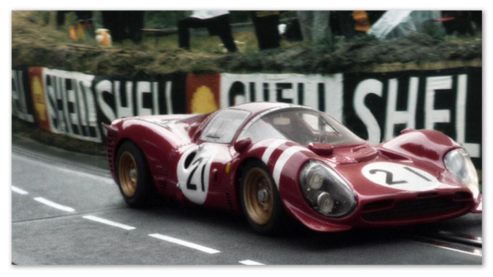 Sometimes you lose.  Ferrari's 330 P3, Le Mans 1966