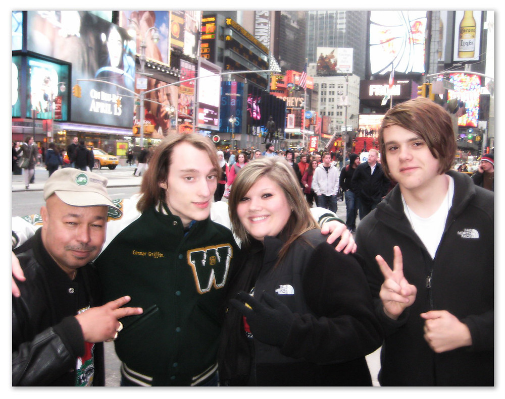 L-R: Michael Bramletta, Connor Griffin, Haylee Walls, Ralph Perry, April 16 2011.