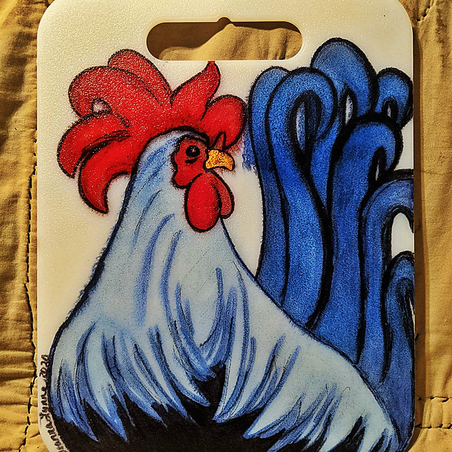 ROOSTER CUTTING BOARD : $15