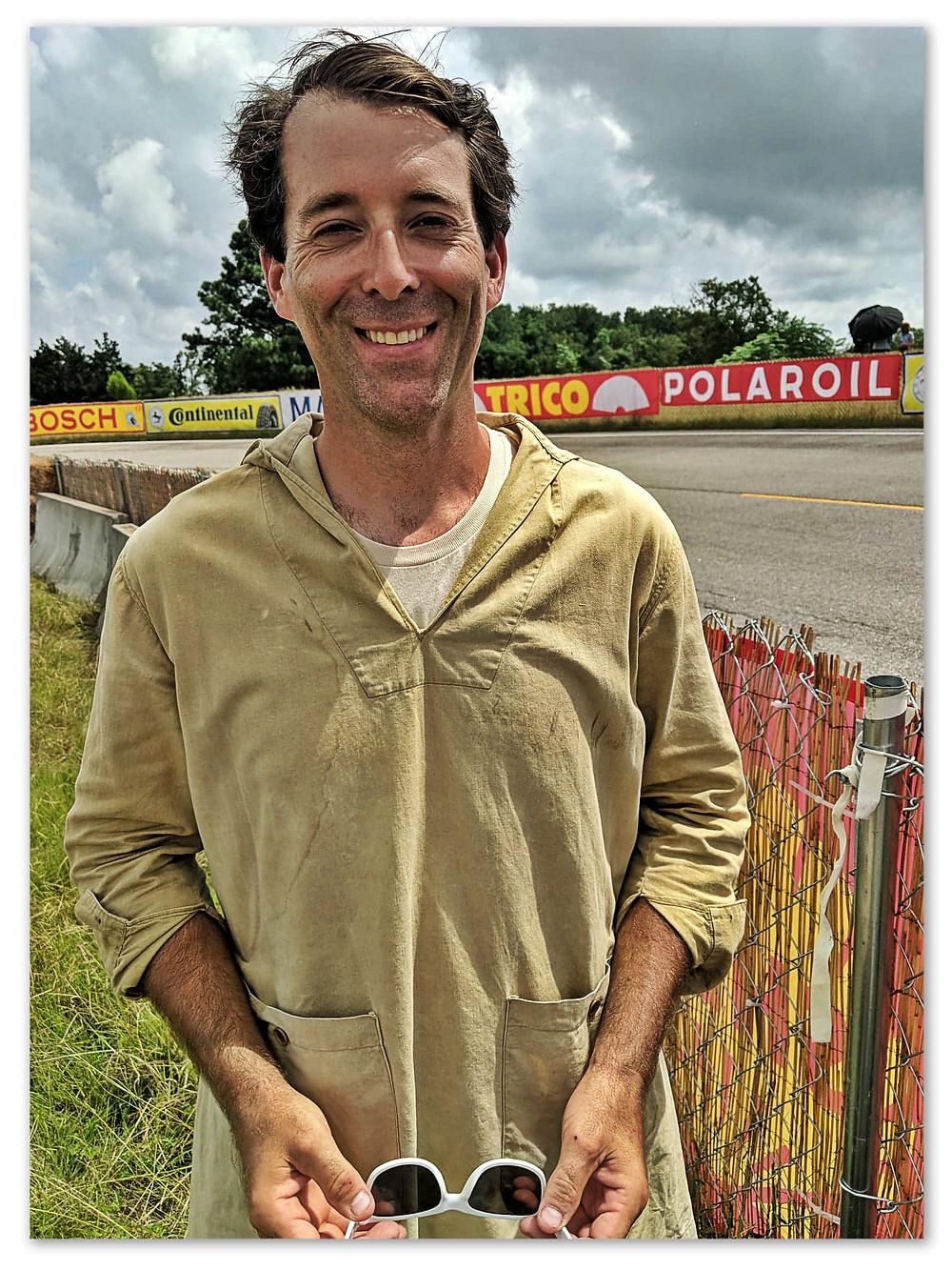 Fellow extra Dan Shindelbower, Jr. of Jacksonville, Florida.
