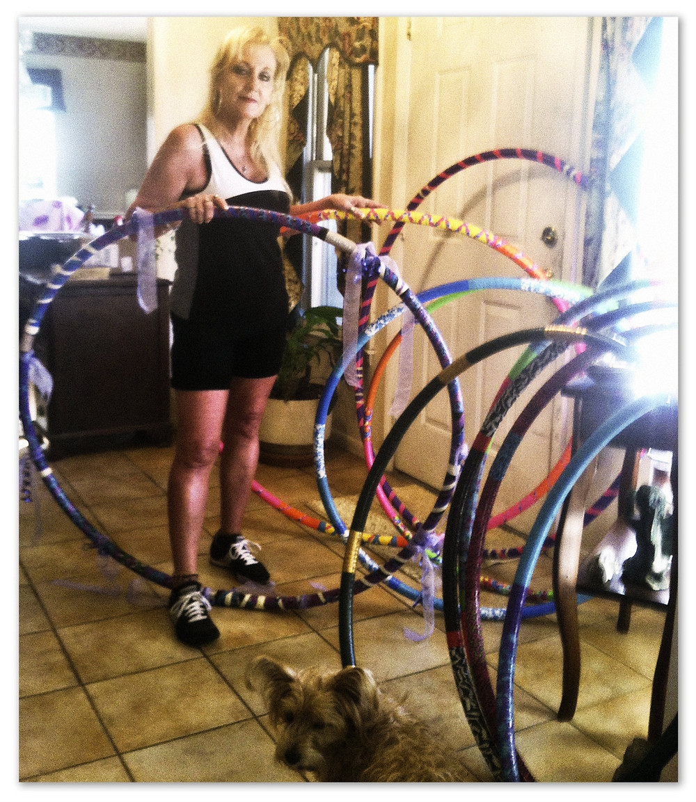 The beautiful Aunt Lynne with her creations.