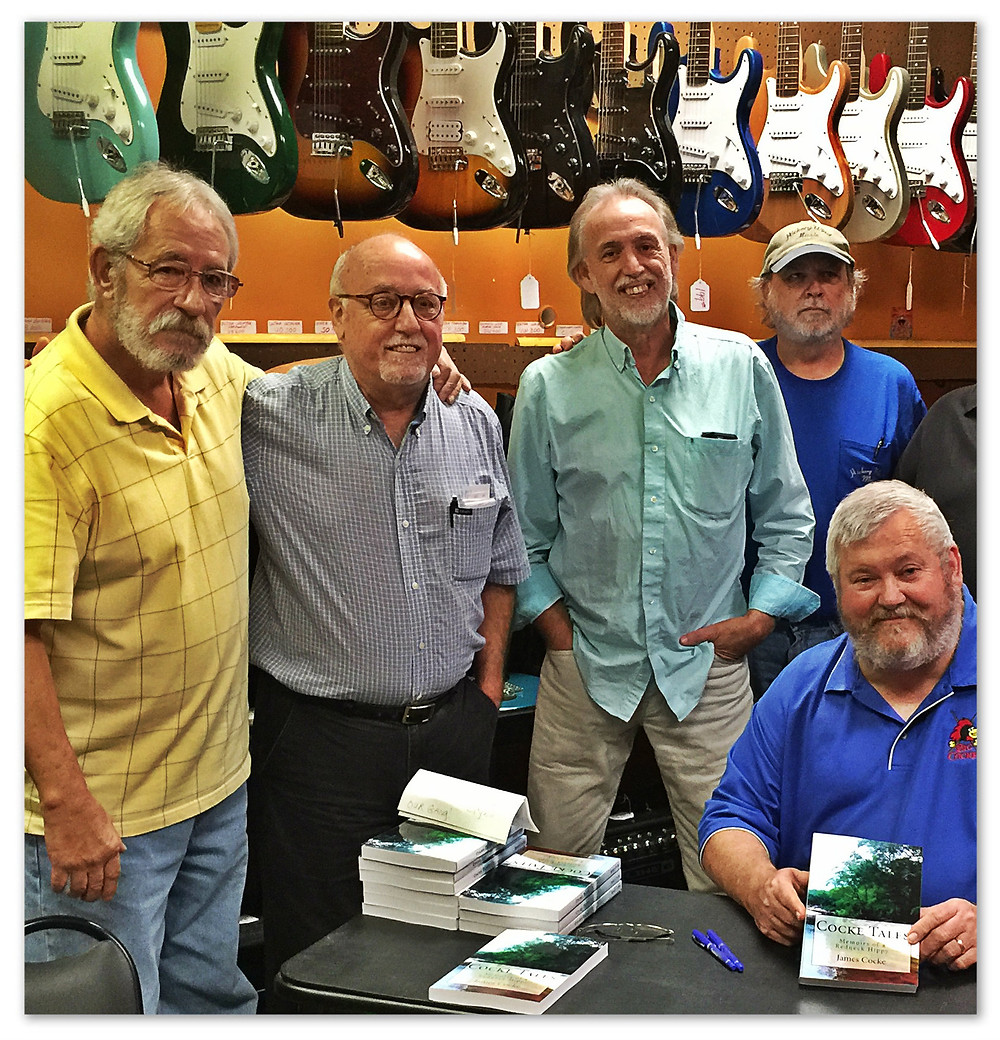 Ol' Doghillers at Cocke Tales book signing, Oct. 2016.  L-R: Greg Griffin, Gary Griffin, Uncle Dave, Billy Ray Herrin, James Cocke