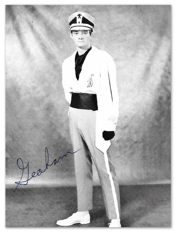 Graham Dukes, Jr., Gator Gold and White Band Drum Major, 1970-71