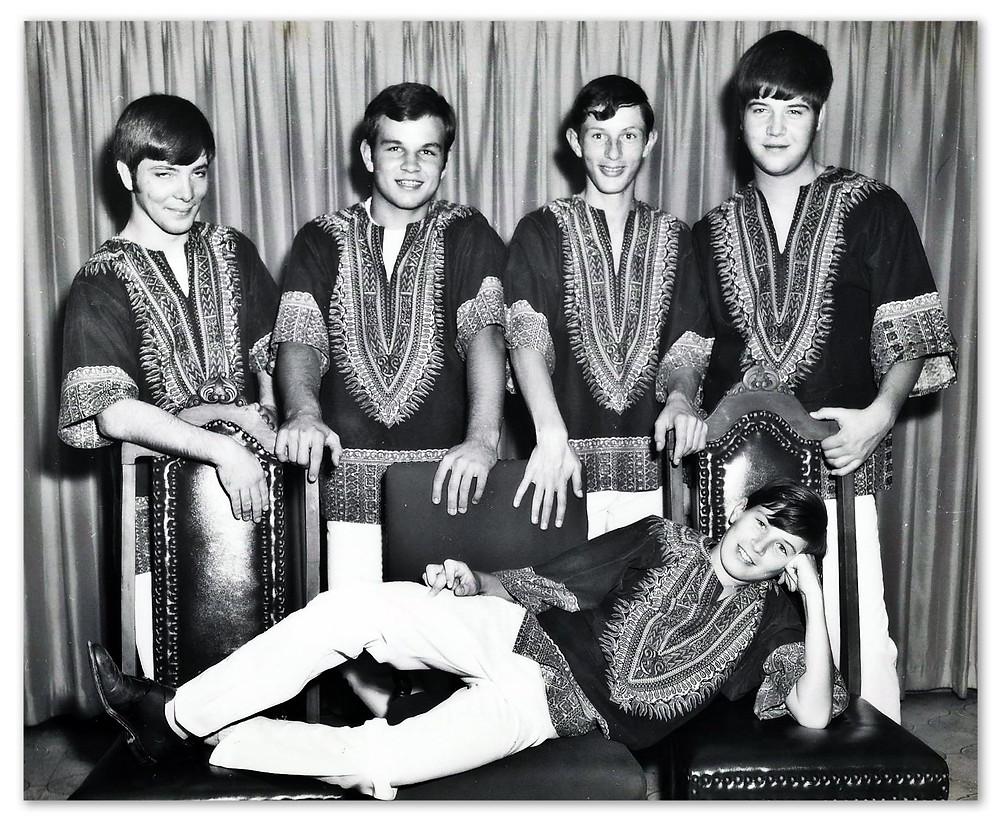 The Faux Pas.  L-R: William Rowell, Bill Farris, Bill Smith, Jimmy Sistar. FRONT: John Randall Smith