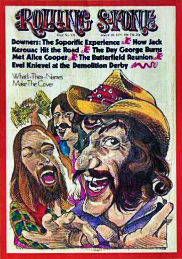 Dr. Hook and the Medicine Show's triumphant cover of the Rolling Stone.  March 29, 1973