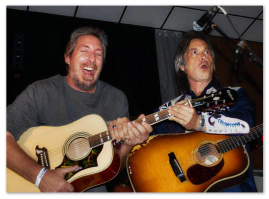 Mike Merrill of Clearwater FL, winner of the Dove, with Jim Lauderdale.  2007
