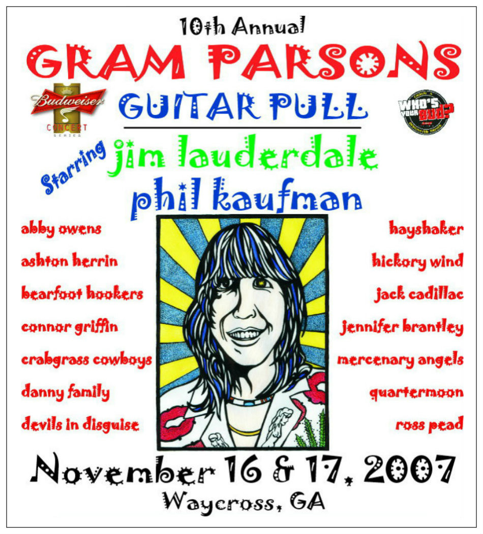 10th Annual GPGP poster artwork by Sean Clark, Waycross songwriter.