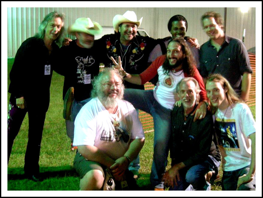 (L-R) Back: Jim Lauderdale, Ray Harris, Seaweed Seeman, Josiah Whitfield, Brent Kirby. Front: Paul Campbell, David Kraai, Uncle Dave, Connor Griffin.  Photo courtesy of Lorene Flanders.  GPGP 2012
