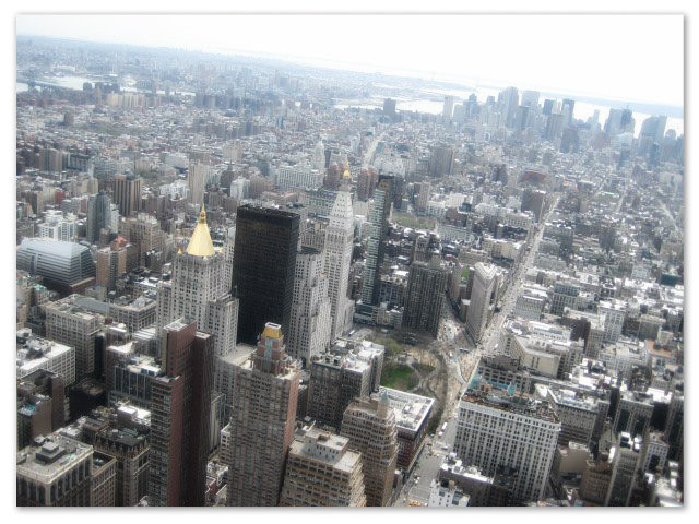 The Big Apple from the Empire State Building Observatory Deck.