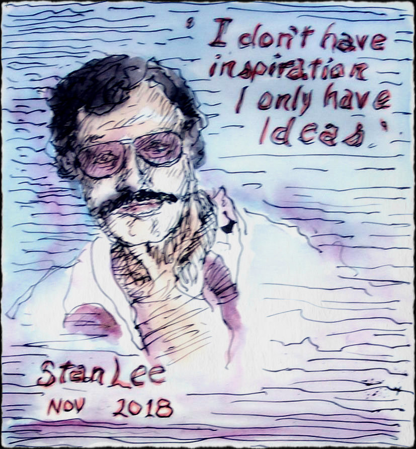 Tribute to Stan Lee, courtesy of Ian Dunlop