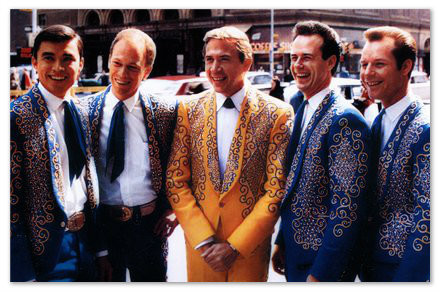Buck Owens and the Buckaroos outside Carnegie Hall,1966