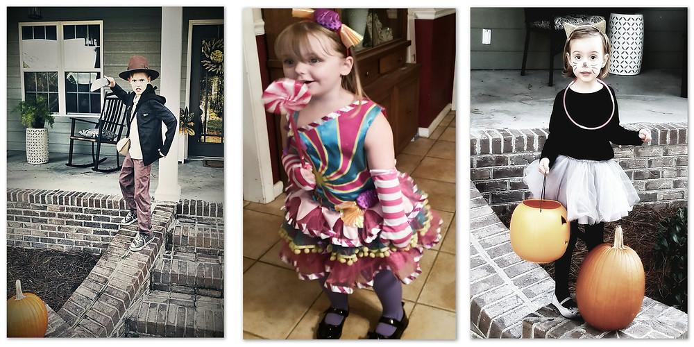 Wyatt: Indiana Jones, Hannah: Candy Girl, Millie: Kitty Cat