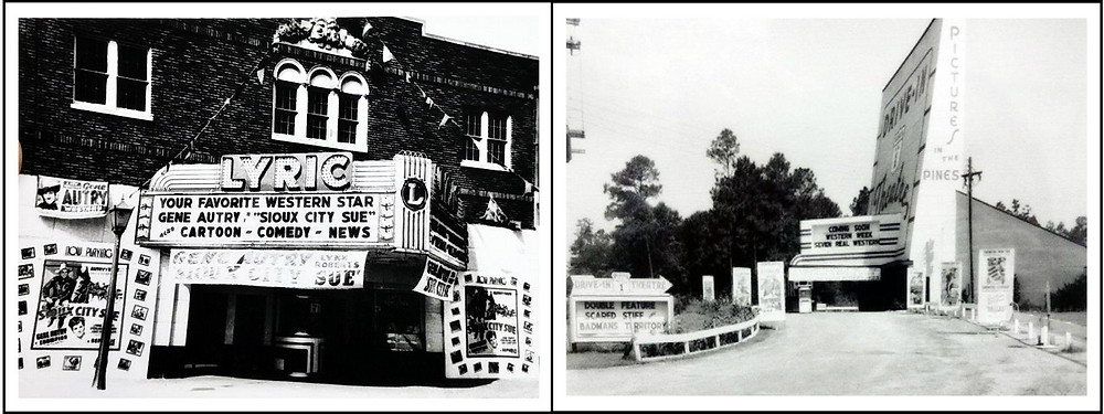 Lyric Theater 1946 / US 1 Drive-In 1954