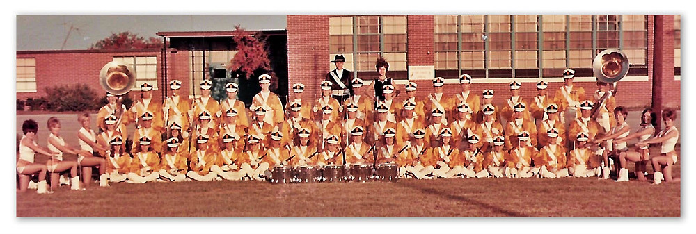 Ware County High Gator Gold and White Band, 1969-70