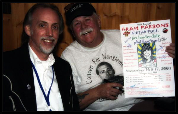 Uncle Dave and Phil 'Road Mangler' Kaufman on a good night.  Photo courtesy of George Hester, 2007.