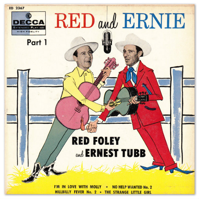 Red and Ernie, one of many of Daddy's fine record collection. 1954