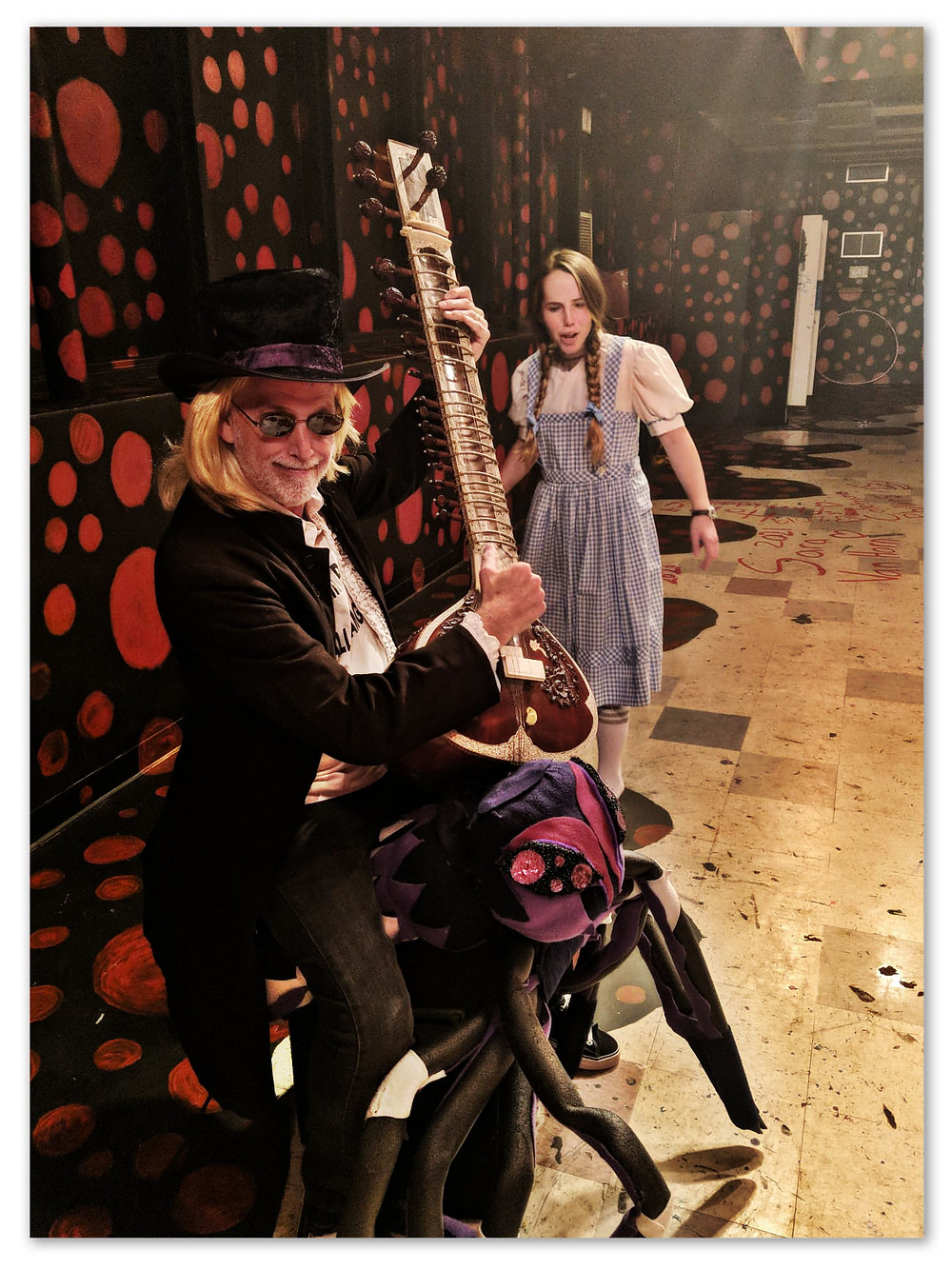 Uncle Dave as Tom Petty.  Anna Nelson as Dorothy.  Oct 15, 2016