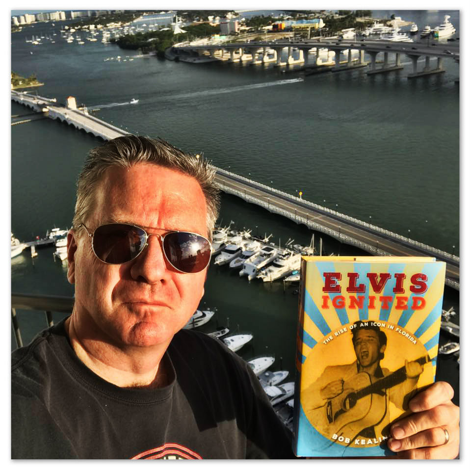 Author Bob Kealing with his latest, Elvis Ignited.