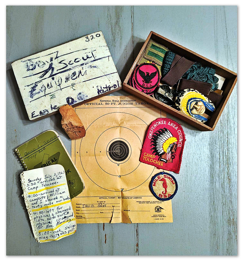Boy Scout memorabilia from the Summer of Love, 1967