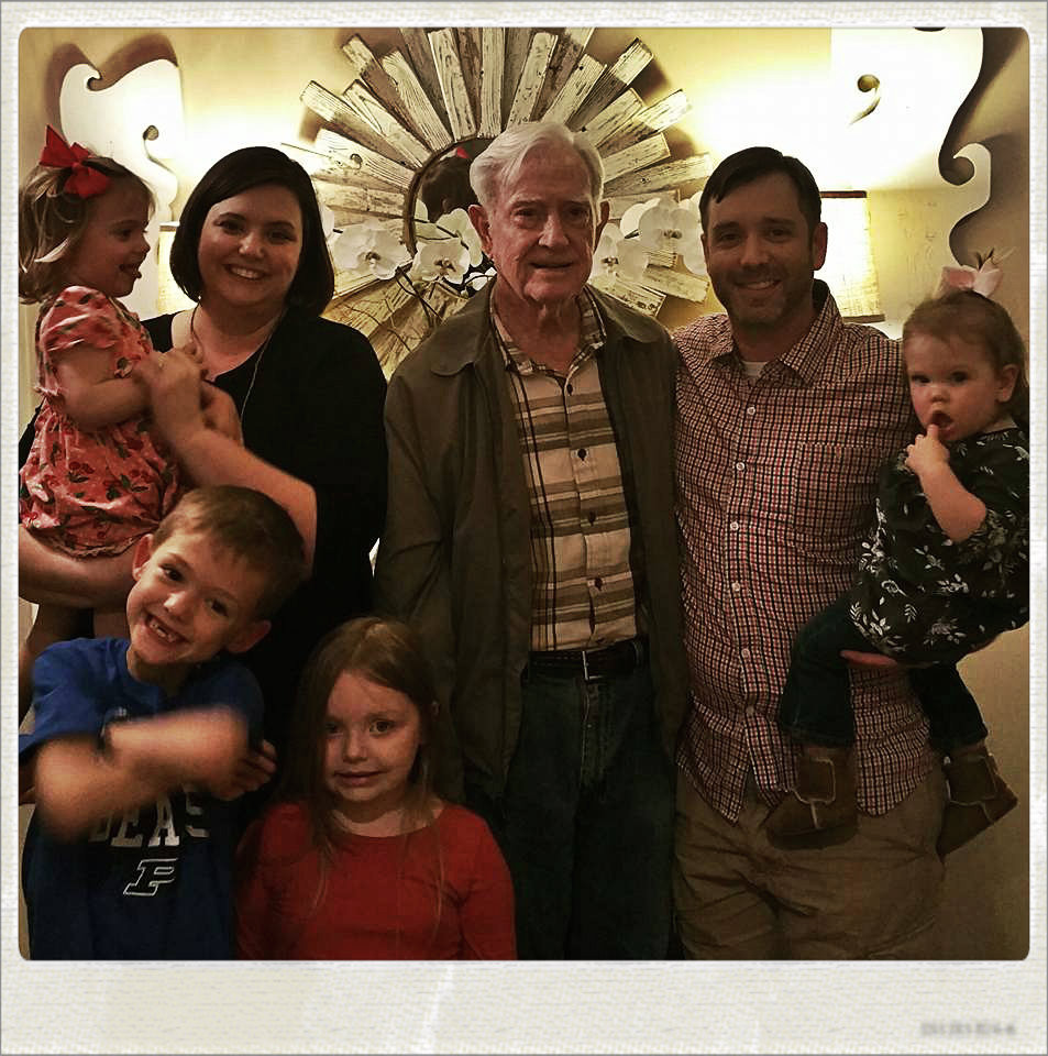 Grandaddy Griffin surrounded by grands and great-grands.  2017