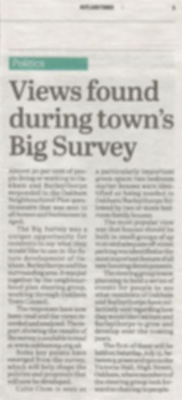 Rutland Times Big Survey Press Release 6th July 2017