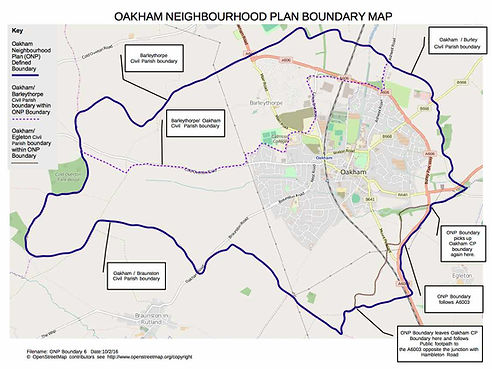 Oakham Neighbourhood Plan Boundary Map