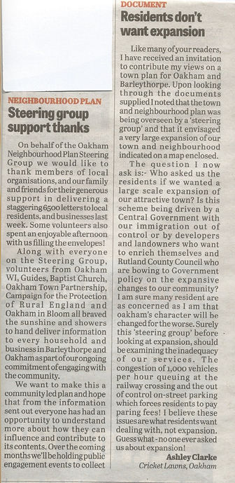 Letters from Rutland Times Your Views 29th Sept 2016