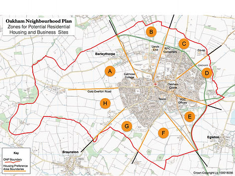 Oakham Neighbourhood Plan Zones