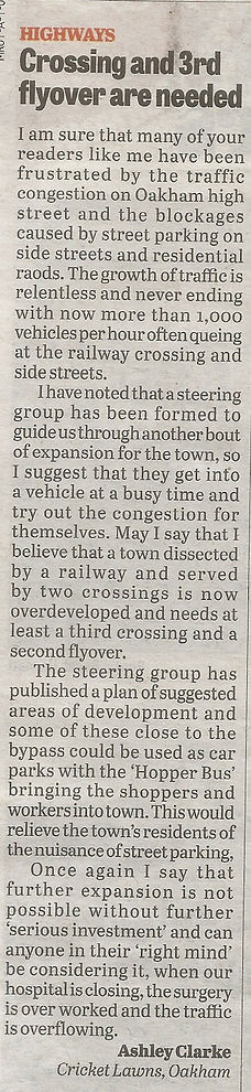letter to Rutland Times 12012017