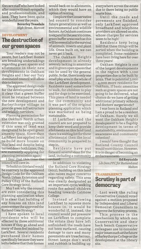 Rutland Times Press Article 022017