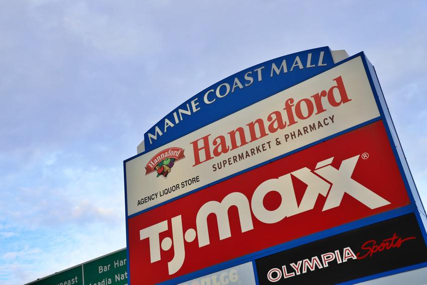 Maine Coast Mall sign