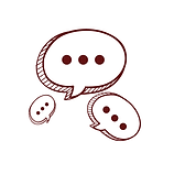 desenho de balões de conversa como símbolo da conexão relacional