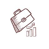 desenho de maleta com indicadores empresariais como símbolo da cultura empreendedora