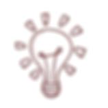 desenho de lâmpada como símbolo da mentalidade protagonista