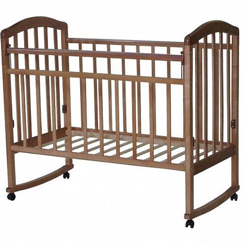 Детская кроватка Антел Алита 2 колесо+качалка Бук