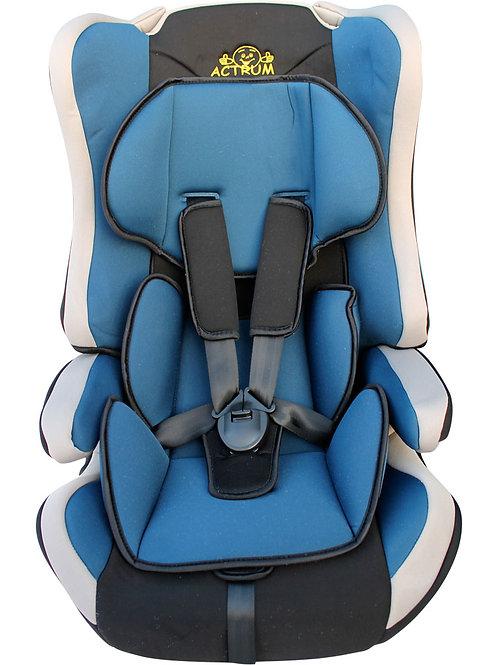 Детское автокресло ACTRUM LB-513C Grey+Red Velure (белый с голубым)