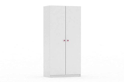 Шкаф 2-х секционный ФЕЯ белый