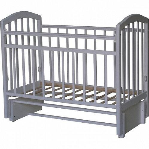 Детская кроватка Антел Алита 5 продольный маятник,без ящика Белый