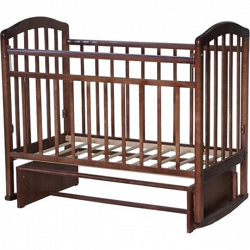 Детская кроватка Антел Алита 3 поперечный маятник,без ящика Орех
