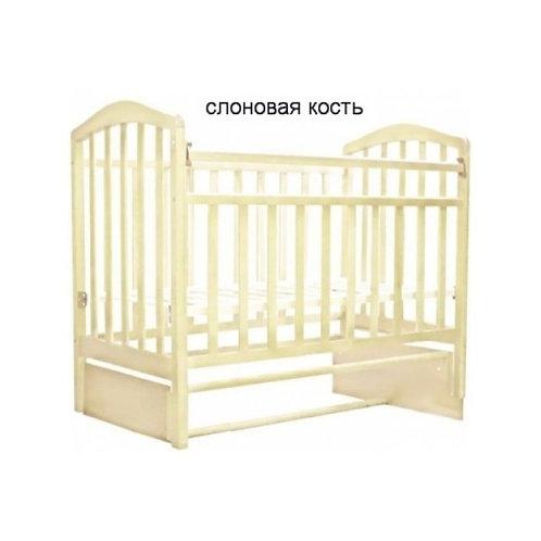 Детская кроватка Антел Алита 5 продольный маятник,без ящика Слоновая кость