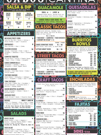 CABOS ALL DAY MENU