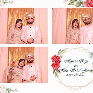 """Hamza Raja & Hira """"sidra"""" Jamil"""