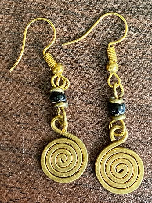 Brass Coil Earrings
