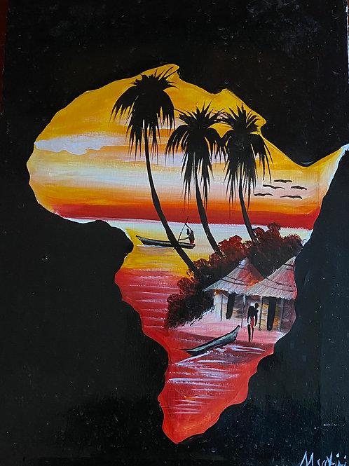 Africa Continent Beach Scene