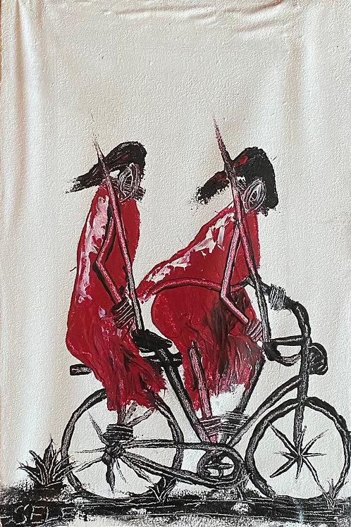 Maasai Warriors on Bike