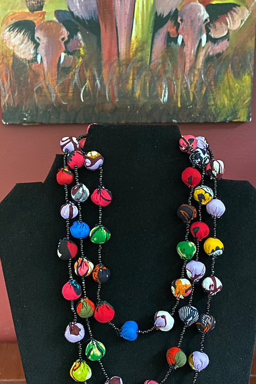 Kitenge Bead Necklace
